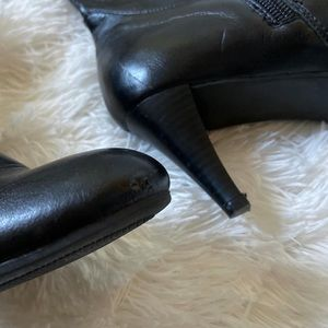 Kaytee Shoes - Faux leather high-heeled boots